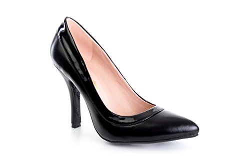 Andres la y negro Mujer Zapatos 45 Machado Para negro Salon a 32 AM592 la Soft la 35 as 42 a Grandes combinado la de Charol Tallas Peque Tallas de rTrqwp