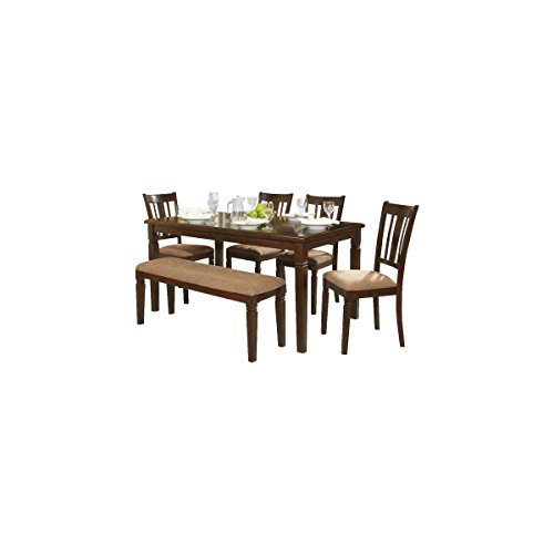 Davidson 5 Piece 60 inch Dining Table Set - Table, 4 Side Chairs