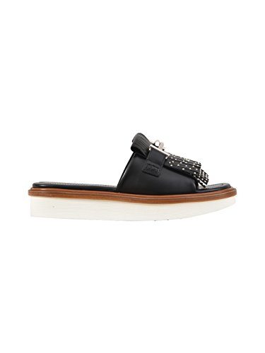 Tod's Women's XXW23A0Y500GOCB999 Black Leather Sandals outlet get to buy eDyp8IEP