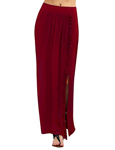 Regna X for Women's All Seasons Light Cool Cover up Plus Big Floor Length Maxi Skirt by Regna X