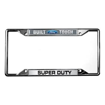 Amazon.com: Built Ford Tough / Super Duty License Plate Frame ...