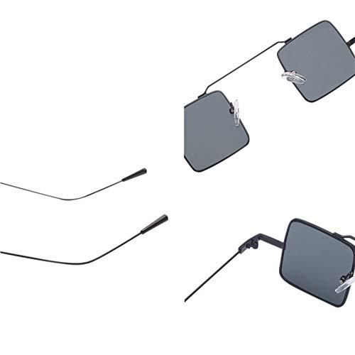 Métal Mode à Chat Petit Soleil Conception Carré Lunettes Gris Protection Cadre de Oeil la de noir Lunettes UV de Lunettes de D'été en p4w4qEO