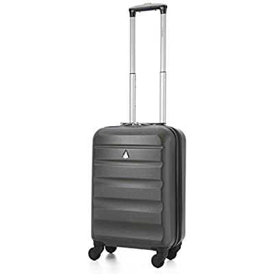 "Aerolite 22x14x9"" American, United & Delta Airlines MAX ABS Hardshell Luggage Suitcase Spinner Carry On"