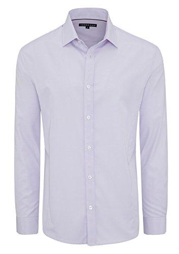 Lilac Tarocash Sleeve Out Shirt Going Blend Polyester Men's Smart Sizes Occasionwear Dress Jasper XS 5XL Long Cotton Regular Fit for vpvax