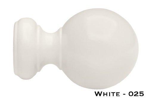 - Wood Ball Finials for 1 3/8 Diameter Pole-1 Pair White by Kirsch