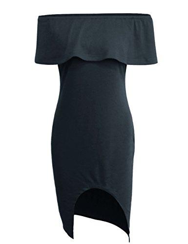 Vestidos de mujer Vendimia moda vestido de Fiesta Nocturna Mini Vestido de playa Sin mangas Bodycon cuello barco vestido Gris