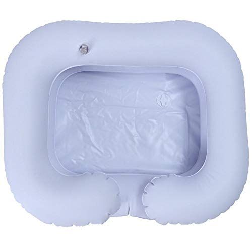 PVC Inflatable Basin Shampoo for The Elderly Disabled Shampoo Sink Folding Bed Practice for The Disabled Elderly Person Pregnancy Post-Surgical Patient inflated Safe Comfortable washbasin