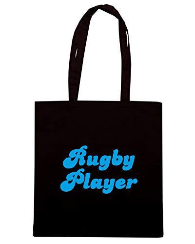 PLAYER BLUE TRUG0122 Speed Nera Shirt Borsa RETRO RUGBY Shopper qnawFT1HxB