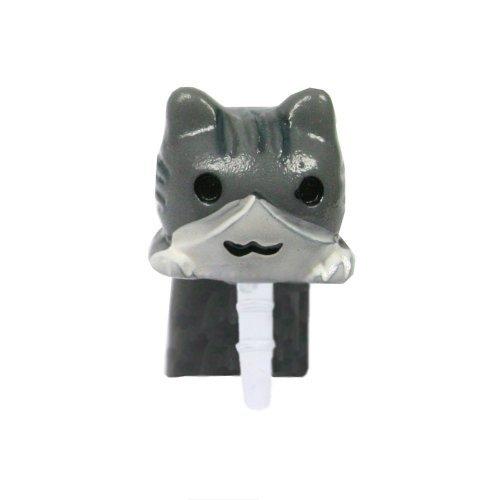 Gioielli per il tuo telefonino nella forma di gatta in colore bianco grigio.