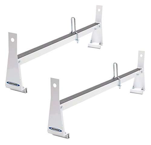 - Werner VR401-W White Bar Steel Ladder Rack for Vans