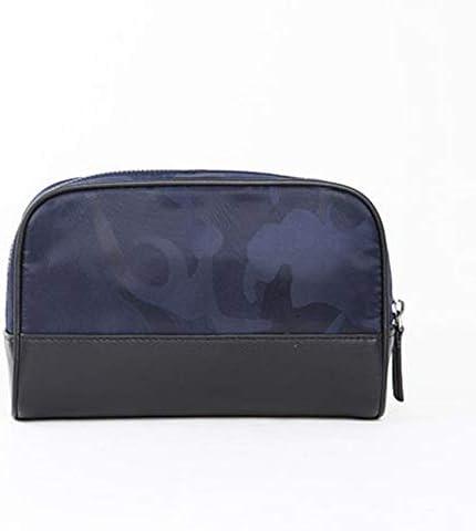 旅行化粧バッグ ハンドバッグ男性ビジネストラベルタイドバッグ学生カジュアルウォッシュバッグ男性土壌のファッショントレンドのシンプルなクラッチバッグ アクセサリー用コスメバッグ (色 : 青, Size : 13x19.8cm)