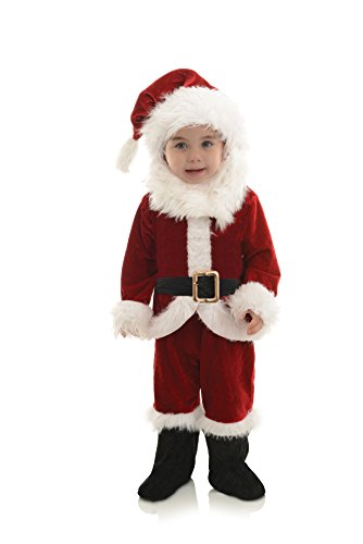 Underwraps Baby's Santa Onesie Costume, Red/White/Black, Medium ()