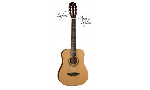 Luna SAFNYL Safari Travel Size 3/4 Nylon Acoustic Guitar wit