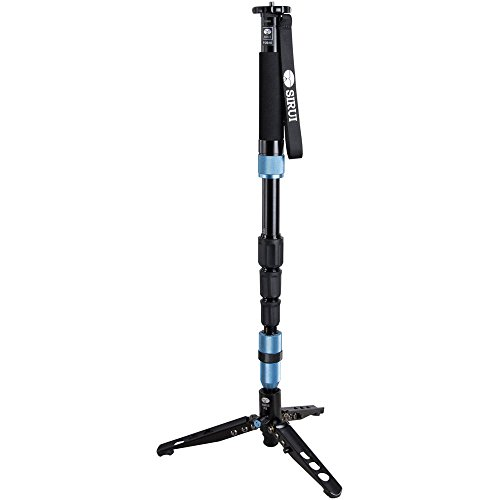 "Sirui P-204S 63"" 4-Section Aluminum Monopod & Case with Remo"