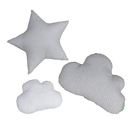grau 600 g Lulando Kissen Wolken und Sterne 3 St/ück
