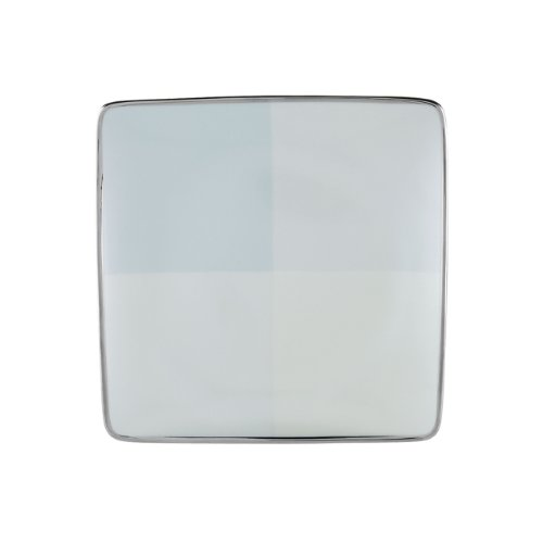 (Lenox Blue Frost Platinum Banded Ivory China Square Accent Plate)