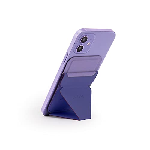 MOFT The First Snap-On Magnetic Stand & Wallet for iPhone 12 (Purple)