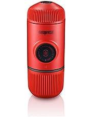 Wacaco Nanopresso Portable Espresso Maker, Upgrade Version of Minipresso, 18 Bar Pressure, Extra Small Travel Coffee Maker, Manually Operated. Perfect for Kitchen and Office