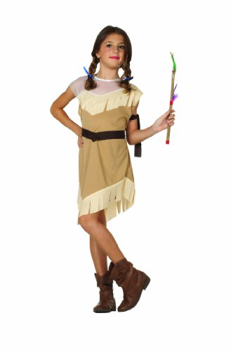 Couples Costumes Indian (RG Costumes Native American Girl Costume, Brown,)