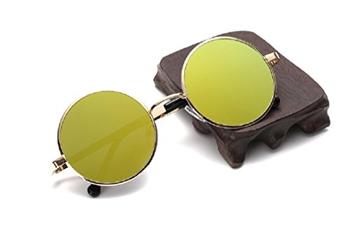 Born Beauty retro sunglasses flat circular metal color film Prince sunglasses - Sunglasses 3 Prince Lens