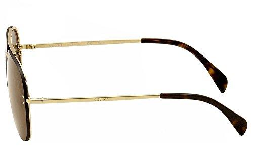 fb8201e46262 Celine Mirror CL 41391 J5G LC Gold Metal Aviator Sunglasses ...