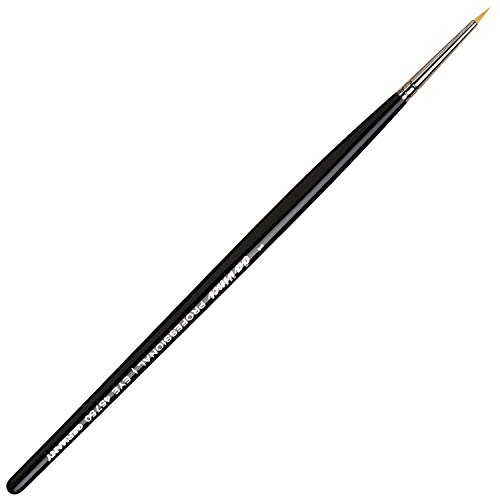 da Vinci Cosmetics Series 45750 Professional Eyeliner Brush, Pointed Round Synthetic, Size 1, 9.5 Gram ()