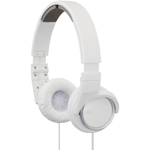 JVC HAS400W Carbon Nanotube On-Ear Headband Headphones (White)