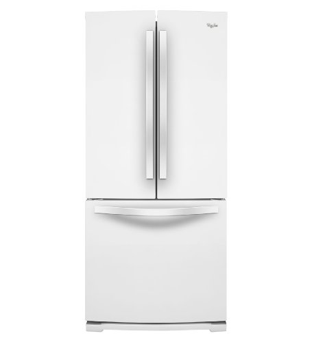 Whirlpool wrf560smyw 19 6 cu ft white french door for 19 6 cu ft french door refrigerator
