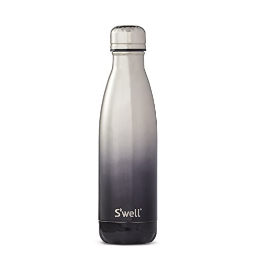 S'well Vacuum Insulated Stainless Steel Water Bottle, 17 oz, White Gold Ombr_