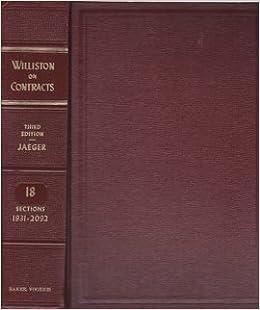 Williston contracts