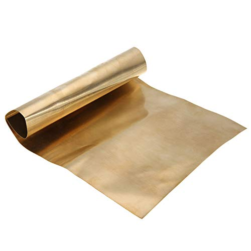 1pc Brass Metal Thin Sheet Foil Plate Shim 0.2mmx200mmx300mm for Metalworking