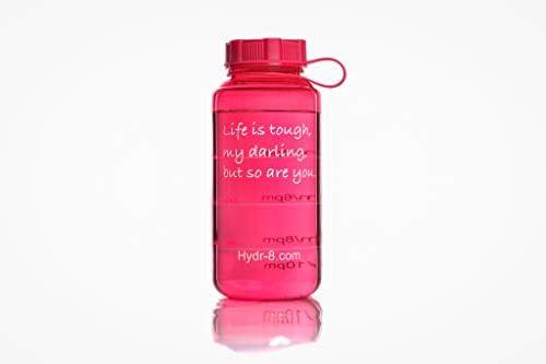 Amazon.com: (Rosa) hydr-8 Deportes botella de agua 1000 ml ...