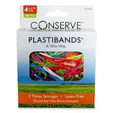 Baumgartens PlastiBands, Box of 100, Assorted Colors and Sizes (SF7000)