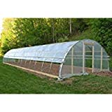 Agfabric 6Mil Plastic Covering Clear Polyethylene Greenhouse Film UV Resistant for Grow Tunnel and Garden Hoop, Plant Cover&Frost Blanket for Season Extension, W20'xL16'