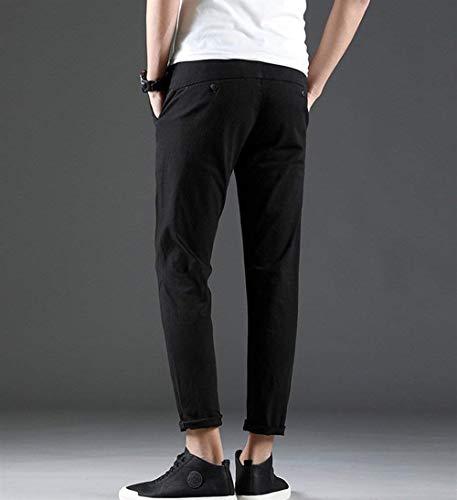 Hombres Pantalones Casua Ajustados Ajustados Pantalones Negro Pantalones De Los Skinny Vaqueros Pantalones Vaqueros Vendimia Flacos Mezclilla Vaqueros Vaqueros Chinos Pantalones Pantalones Ocasionales wrr7qt