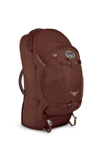 Osprey Farpoint 70 Travel Backpack, Mud Red, Medium/Large, Outdoor Stuffs