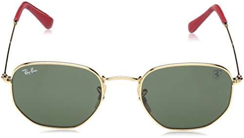 Ray-Ban Mens 0rb3548nmf0083151metal Unisex Square Sunglasses, Gold, 45 mm