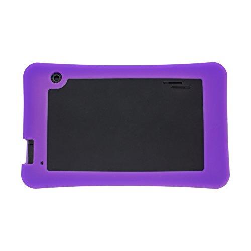 Transwon Silicone Case Compatible with RCA RCT66723W2 7 Inch, SmarTab ST7150, Yuntab T7, Haehne 7 Inches Tablet PC, DigiLand DL7006, Digiland DL721-RB / DL718M / Dl701q, iView SupraPad i700 - Purple