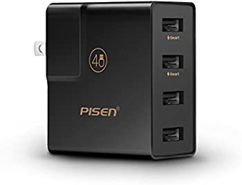 Pisen 20W 4-Port Portable USB Wall Charger