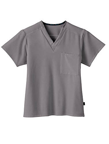 Classic Fit Collection by Jockey Unisex 1 Pocket Tri Blend Solid Scrub Top Medium Pewter