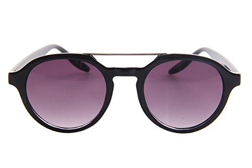 SojoS Retro Round Circle Women Sunglasses with Metal Crossbar SJ2001 With Black Frame/Black - Sunglasses Aviator Costco