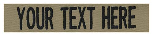 Custom Uniform Name Tapes, 50 Fabrics to choose from! Made in the USA! SHIPS UNDER 24 HRS! Coyote Tan, 5