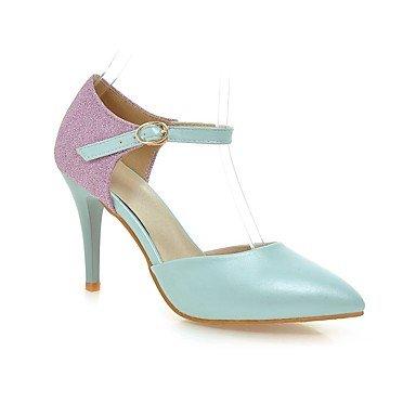 LvYuan Mujer-Tacón Stiletto-Otro-Sandalias-Exterior Oficina y Trabajo Informal-PU-Azul Rosa Blanco White