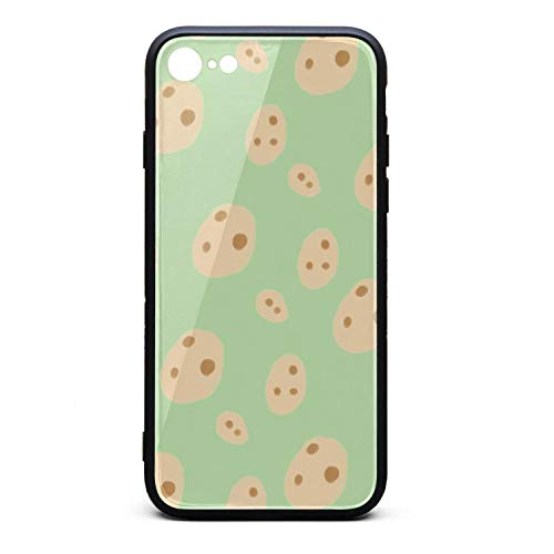 Xanx Smon iPhone 7 Case iPhone 8 Case Cute Cookie Soft Silicone Bumper 9H Tempered Glass Back Cover Compatible iPhone 7 / iPhone 8 ()