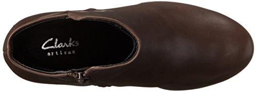 Clarks Dark Lucette Jewel Leather Boot Brown vUvrwq7