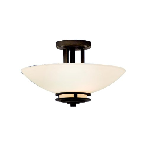 Kichler Lighting 3674OZ 2-Light Hendrik Incandescent Semi-Flush Mount Ceiling Light,