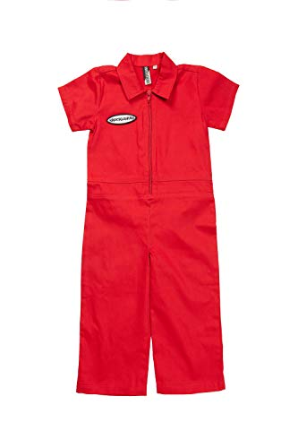 Born to Love Knuckleheads - Infant and Baby Boy Grease Monkey Coveralls Red 12-18 Months]()