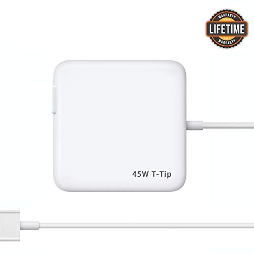 Mac Book Air Charger, Great Replacement 45W T-Tip Power Adapter Charger for Mac Book Air 11-inch and 13-inch (Mid 2012 or Later)(45T) (Macbook Air 11 Inch Early 2014 Ssd)