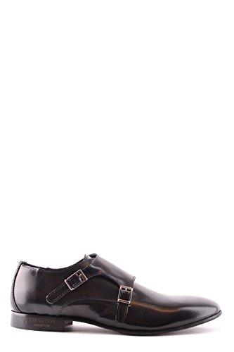 Trussardi Zapatos de Cordones Para Hombre Negro Negro It - Marke Größe