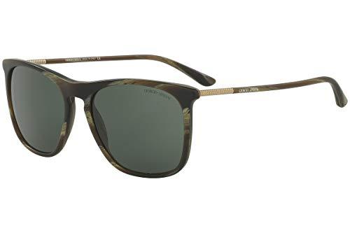 Giorgio Armani AR8076 - 549671 Sunglasses Striped Green 55mm